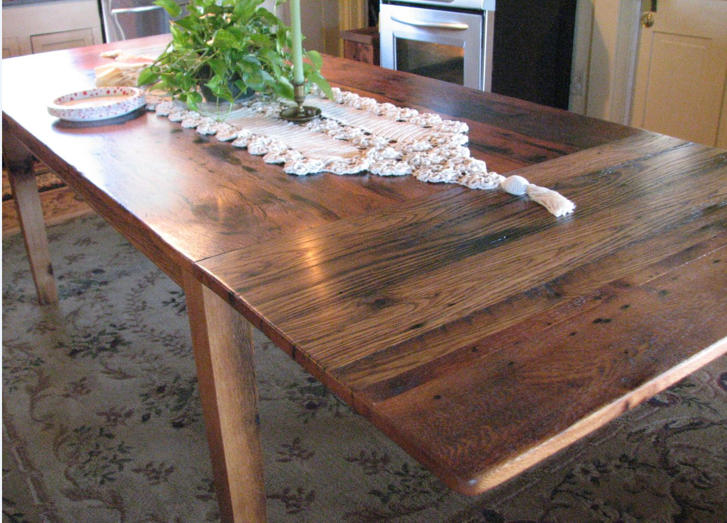 Oak Table with End Extensions 3