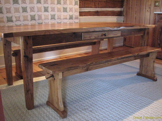 Reclaimed Chestnut Trestle Bench