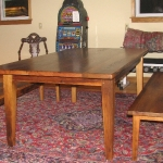 Reclaimed chestnut Table-with-benches