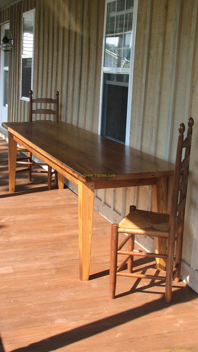 3. Large Chestnut Table