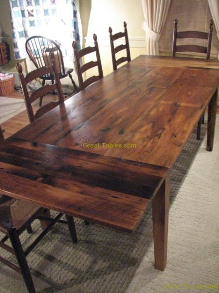 1.Reclaimed Chestnut Table with Extensions
