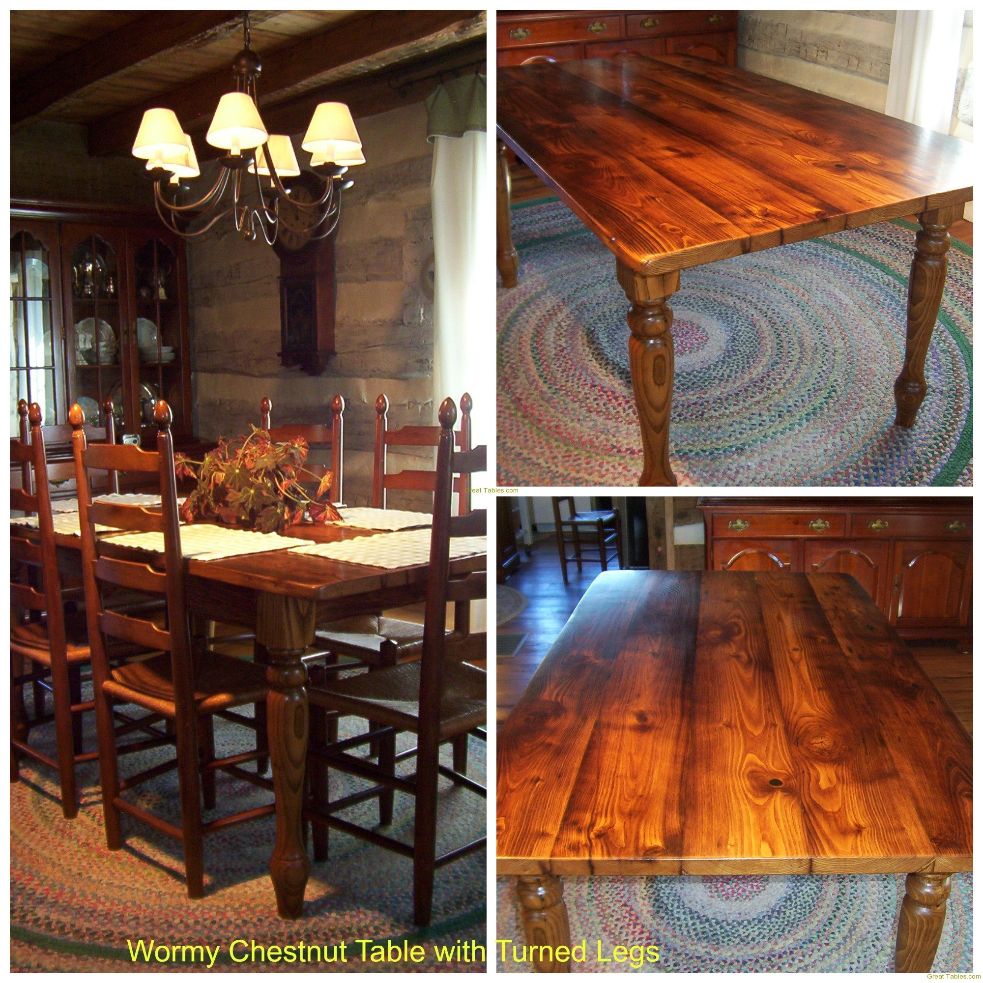 12. Chestnut Table with Turned Legs
