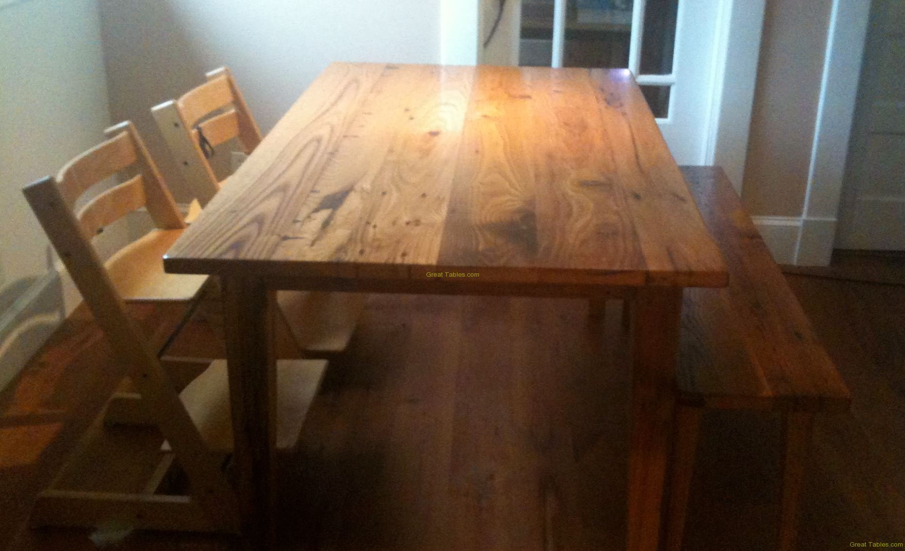 30. Chestnut Table with Bench