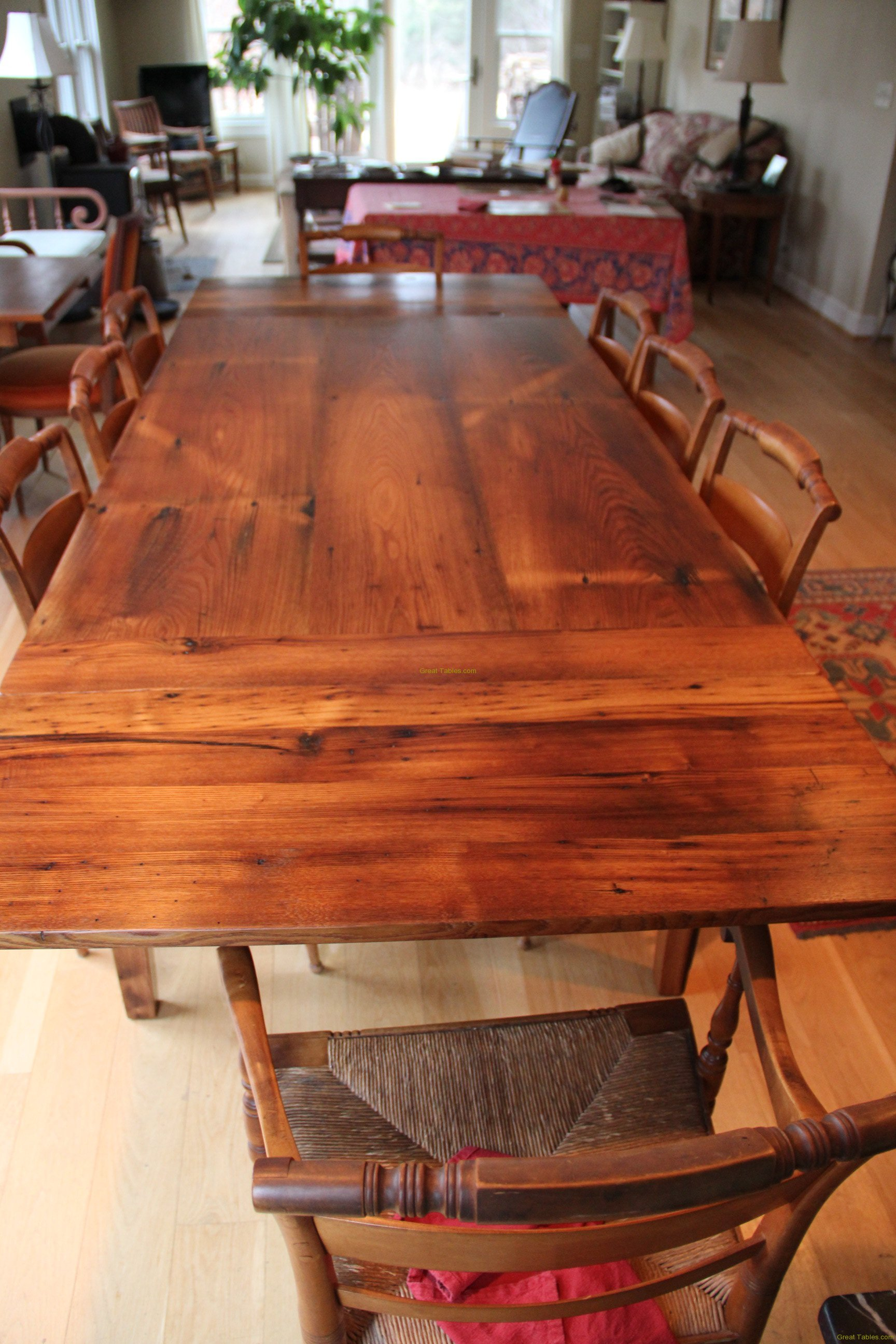 11. Chestnut Table with Traditional Extensions