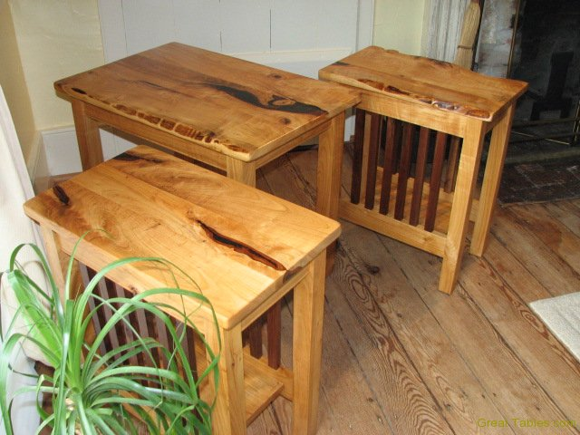 3. Reclaimed Cherry End Tables