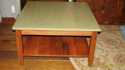 6. Walnut Coffee Table with Painted Top