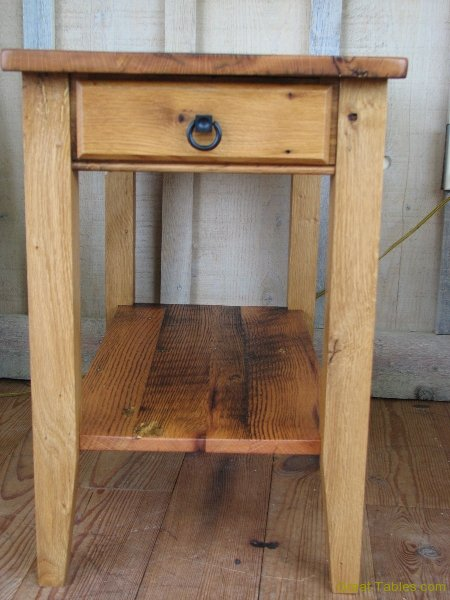 11. Reclaimed Oak End Table