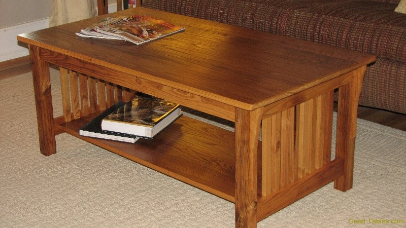 13. Wormy Chestnut Coffee Table