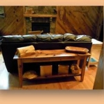 7. Wormy Chestnut Sofa Table