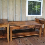 10 Reclaimed Oak Coffee Table with End Tables