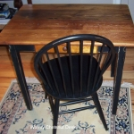 15. Wormy Chestnut Small Desk with Windsor Chair