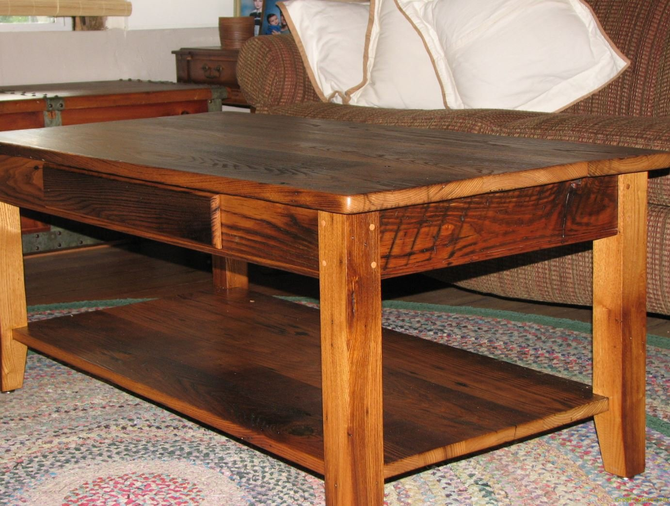 wormy chestnut coffee table