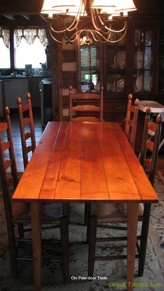 5. Heart Pine Table from an Old Door