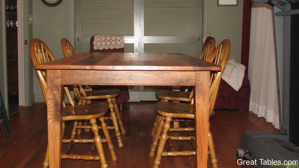 oak farm tables farm table kitchen Oak Table 3