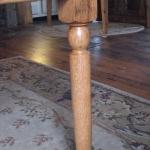 Farm style legs in Oak