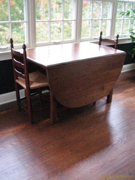 1. Reclaimed Walnut Drop Leaf Table