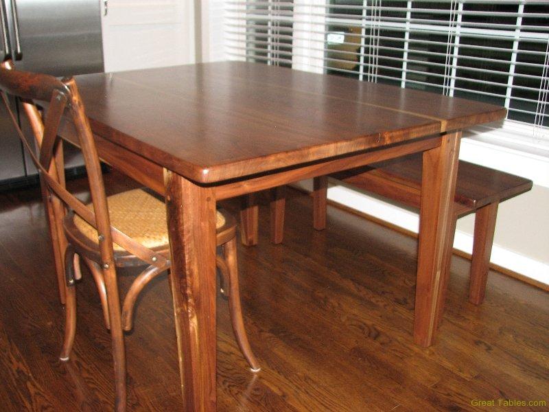 4. Reclaimed Walnut Kitchen Table