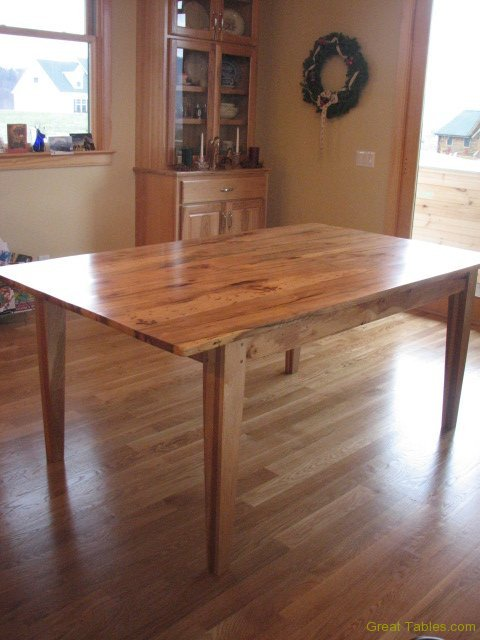 2. Reclaimed Hickory Table