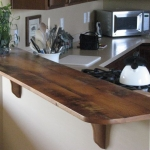 Reclaimed Oak Bar Top