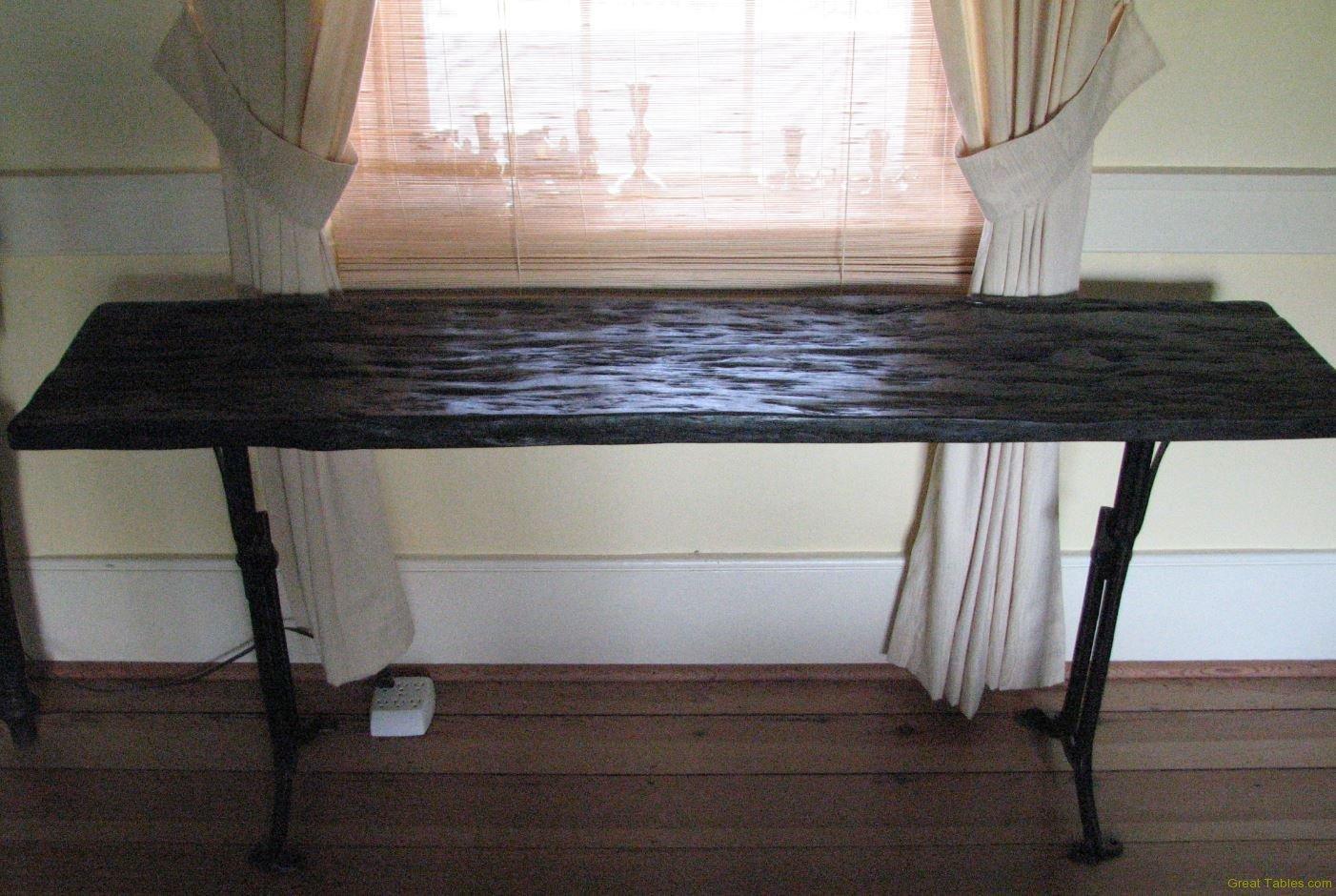 Black Oak Bench (metal legs)
