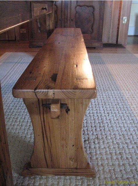 Pedestal Wormy Chestnut Bench