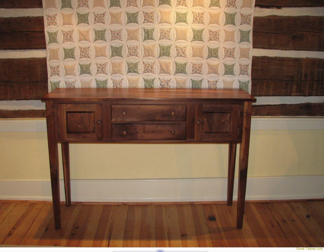 Reclaimed Walnut Side Table (hunt board)