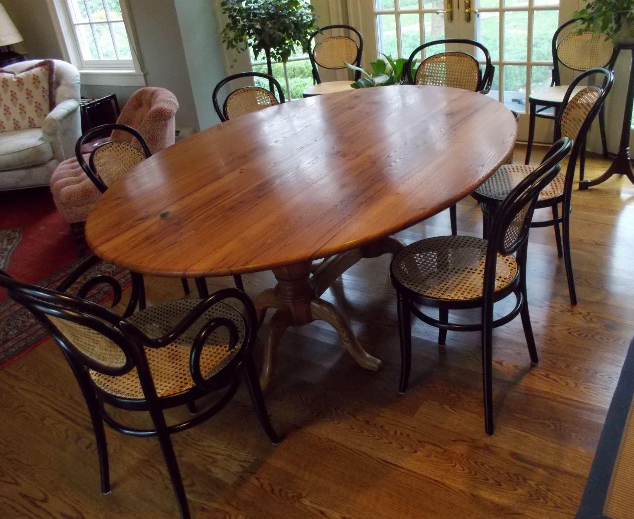 wormy chestnut pedestal table1