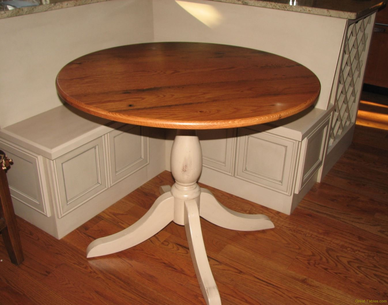 Reclaimed Oak Round Table