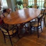 Pedestal Oval Chestnut Table