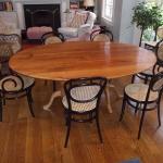 Pedestal Oval Chestnut Table1