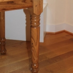 wormy chestnut Oval leg