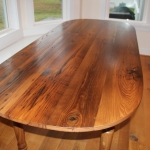 wormy chestnut Oval table top