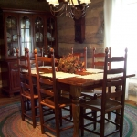 wormy chestnut Oval table21