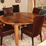 wormy chestnut round table (Thick Top)