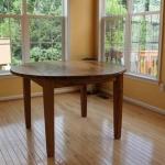 wormy chestnut round table