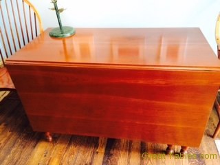 Side View Drop Leaf Cherry Table