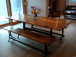 IMG_20180408_145006496 IMG_20180408_135453020 REclaime Cherry Farm Table1  Wormy Chestnut Table 27 Reclaimed Wormy Chestnut ...