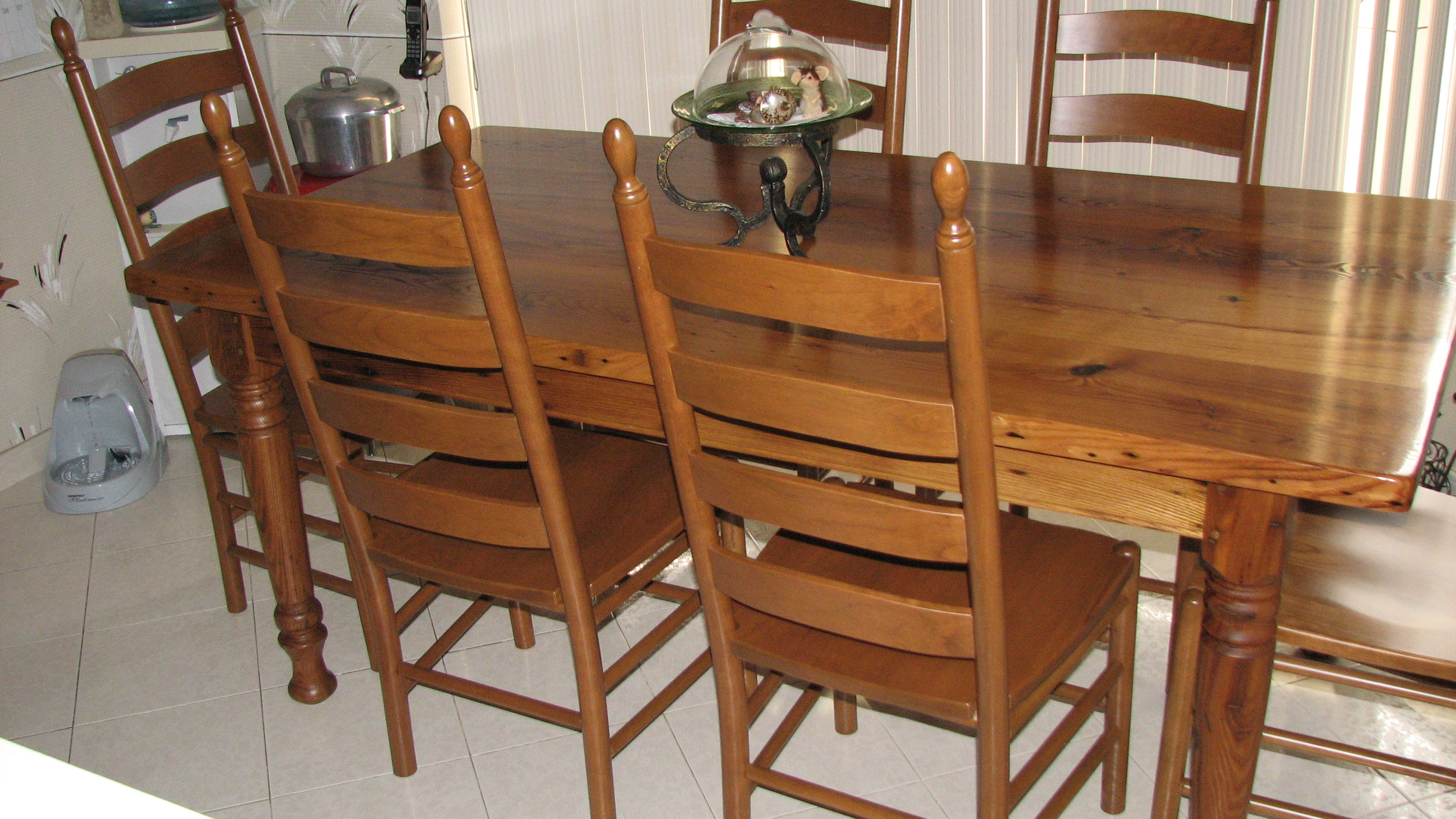 Wormy Chestnut Table And Chairs