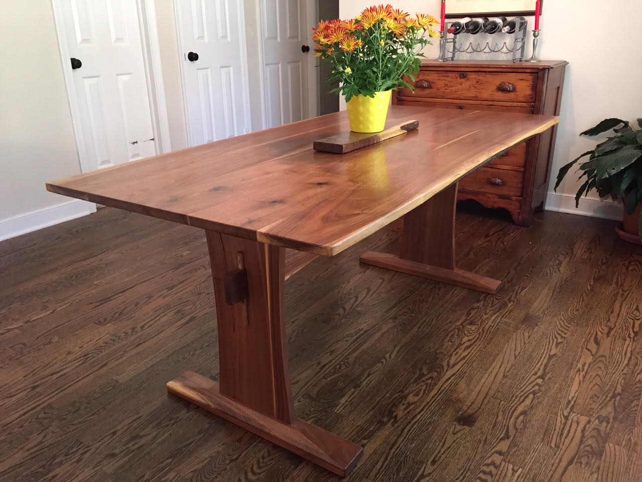 Beautiful Walnut Trestle Table With Wxtensions Walnut Trestle Table Without  Extensions ...