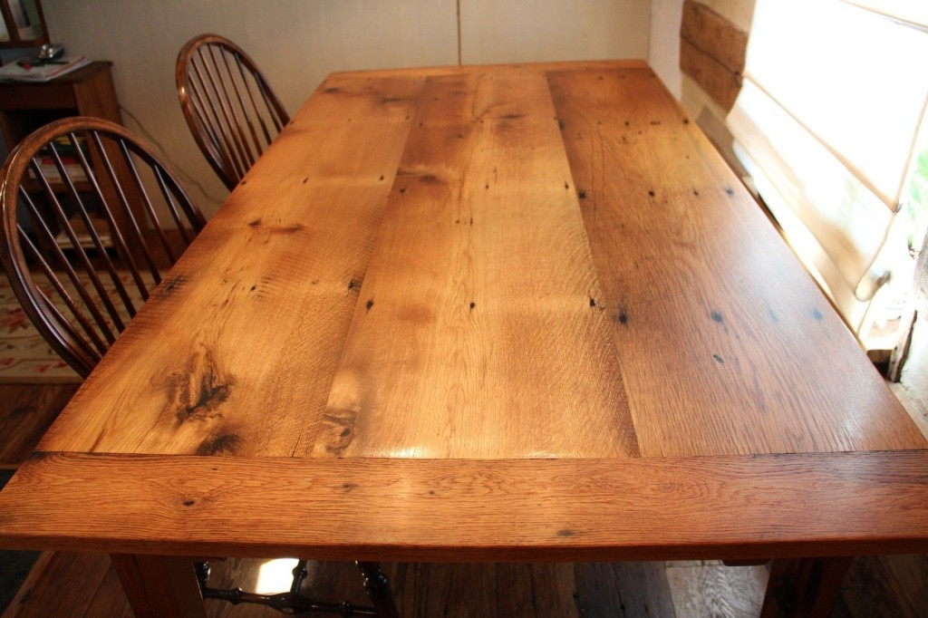 Reclaimed Oak Farm Table with Extensions | Reclaimed Wood Furniture