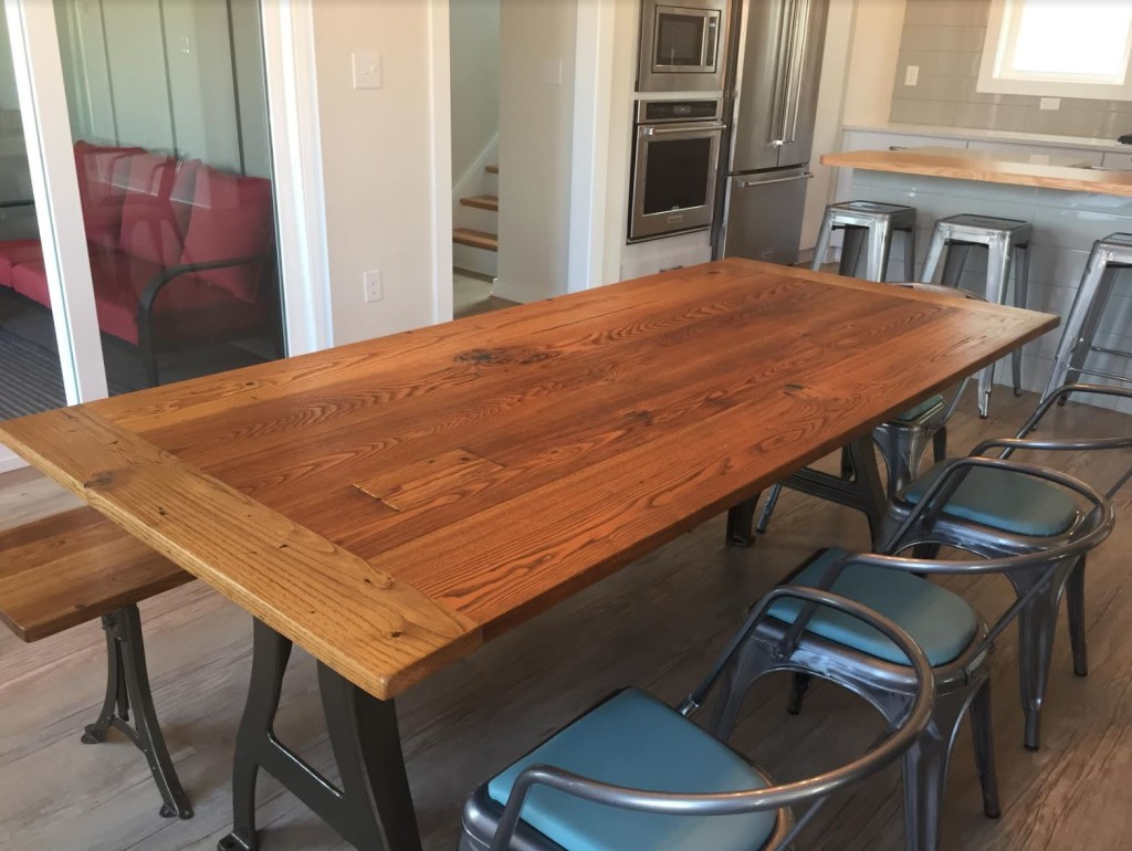 High Quality Metal Legs Chestnut Table3